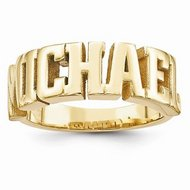 Man s Name Ring