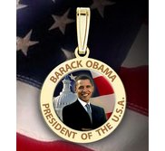 Barack Obama Medal   w  Engraved Letters  Color EXCLUSIVE