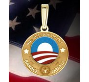 Barack Obama Inauguration Medal   w  Raised Letters  EXCLUSIVE