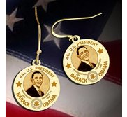 Barack Obama Inauguration Earrings  EXCLUSIVE