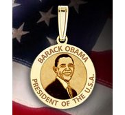 Barack Obama Medal   w  Engraved Letters  EXCLUSIVE