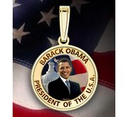 Barack Obama Medal   w  Raised Letters  Color EXCLUSIVE