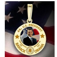 Barack Obama Inauguration Medal   Engraved Letters  EXCLUSIVE
