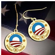 Barack Obama Inauguration Logo Earrings  EXCLUSIVE