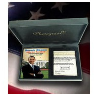 "Barack Obama Inauguration - Photo Portrait Plaque ""EXCLUSIVE"""