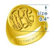 Boy s Round Embossed Monogram Ring