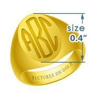Boy s Oval Traditional Monogram Ring