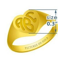 Heart Girls s Traditional Monogram Ring
