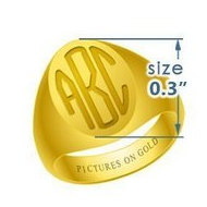 Oval Girls s Traditional Monogram Ring