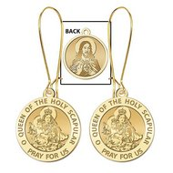 "Scapular Medal [Double Sided] Earrings ""EXCLUSIVE"""