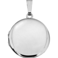 Build Your Own Sterling Silver 2-Picture Round Locket
