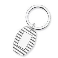 Sterling Silver Engravable Keychain