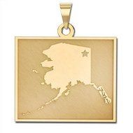 Personalized Alaska Pendant or Charm
