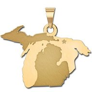 Personalized Michigan Pendant or Charm