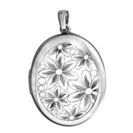 Sterling Silver Musical  Your Are My Sunshine   Flower Locket