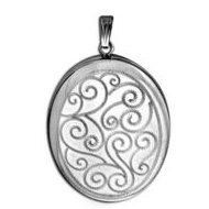 Sterling Silver Musical  Your Are My Sunshine   Swirl Locket