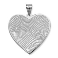 Heart-Shaped Custom Print  Medal