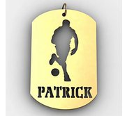 Personalized Basketball Name Dog Tag Cut Out Pendant