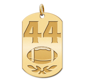 Personalized Football Number Dog Tag Pendant