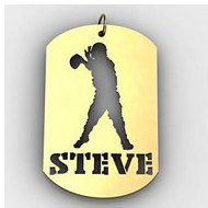 Personalized Football Quarterback Name Dog Tag Cut Out Pendant