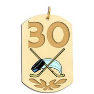Personalized Hockey Number Dog Tag Color Pendant