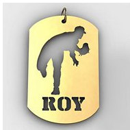 Personalized Baseball Pitcher Name Dog Tag Cut-Out Pendant