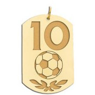 Personalized Soccer Number Dog Tag Pendant