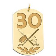 Personalized Hockey Number Dog Tag Pendant