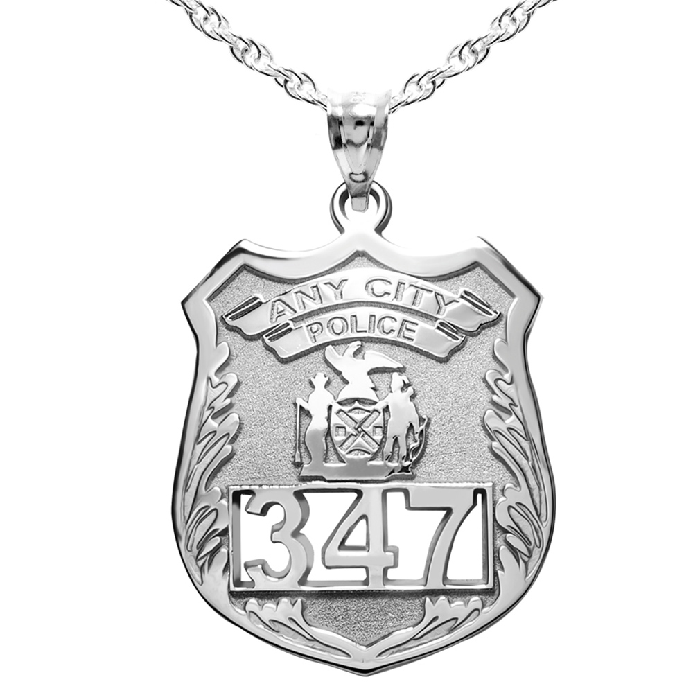 Personalized Police Badge w/ Your Number & Department