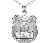 Personalized Police Badge w  Your Number   Department