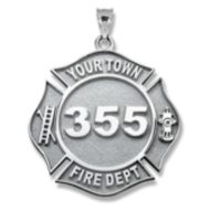 Personalized Firefighter Badge w/ Your Number & Department