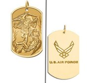 Saint Michael Doubledside AIR FORCE Dogtag Religious Medal  EXCLUSIVE