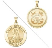 Saint Brendan Doubledside COAST GUARD Religious Medal  EXCLUSIVE