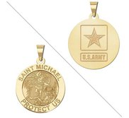 Saint Michael Doubledside ARMY Religious Medal  EXCLUSIVE