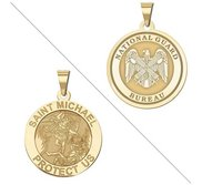 Saint Michael Doubledside NATIONAL GUARD Religious Medal  EXCLUSIVE