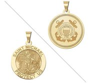 Saint Michael Doubledside COAST GUARD Religious Medal  EXCLUSIVE
