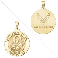 Saint Joan of Arc Doubledside AIR FORCE Religious Medal  EXCLUSIVE