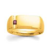 Gold 1 Stone Father's Ring