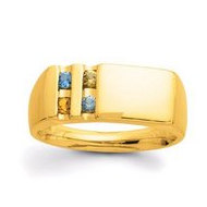 Gold 4 Stone Father's Ring