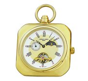 Charles Hubert Gold Tone Premium Pocket Watch