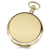 Charles Hubert Photo Gold Tone Pocket Watch