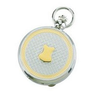 Charles Hubert Photo Two Tone Quartz Pocket Watch