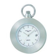 Charles Hubert Chrome Tone Pocket Watch