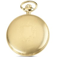 Charles Hubert Photo Gold Tone Shield Pocket Watch