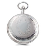 Charles Hubert Chrome Tone Two Photo Pocket Watch