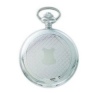 Charles Hubert Photo Chrome Tone Shield Premium Pocket Watch