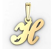 H  Outlined Initial Pendant