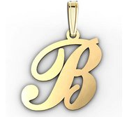 B  Outlined Initial Pendant