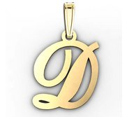 D  Outlined Initial Pendant
