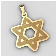 Star of David  Cut Out Pendant